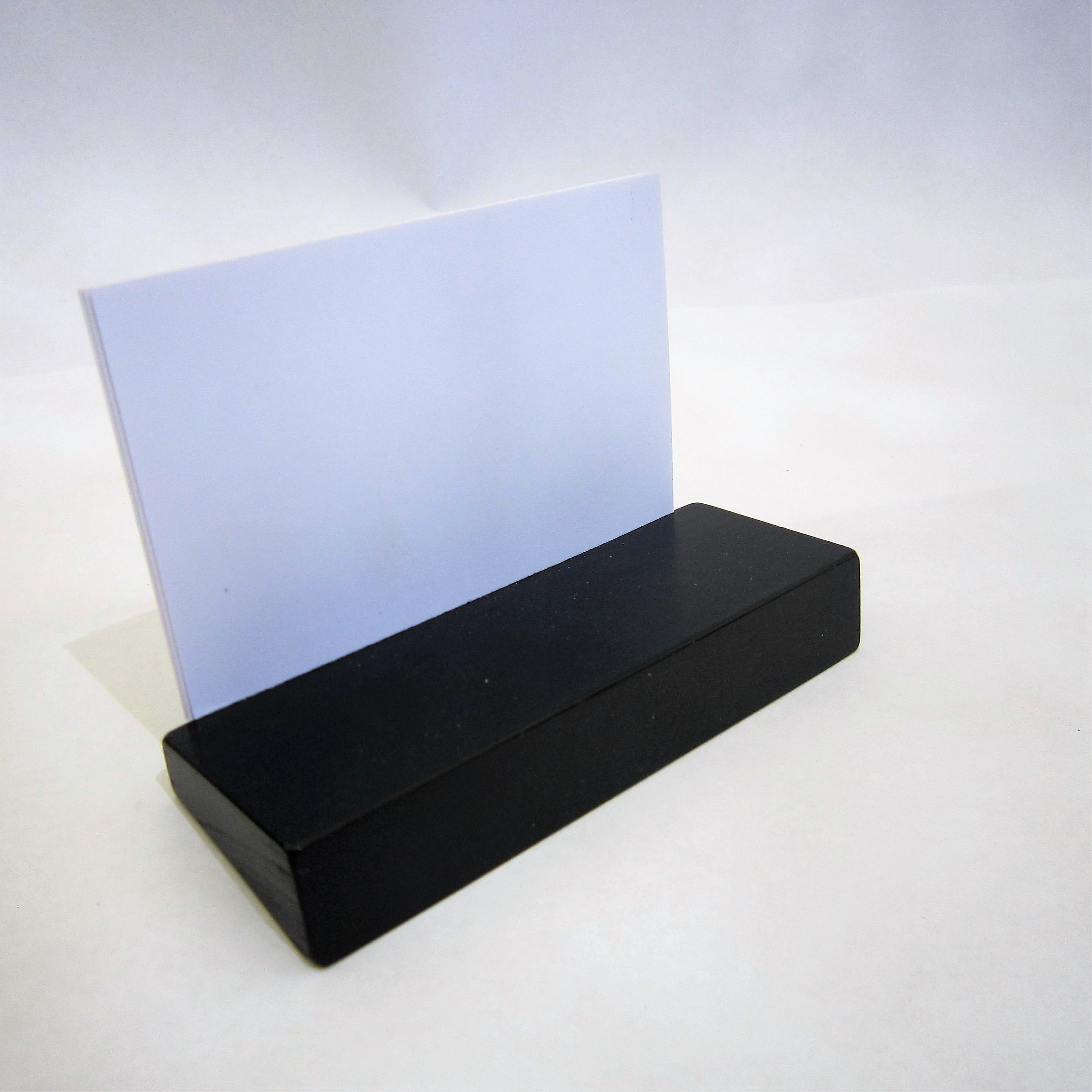 business card stand black - Business Card Stand